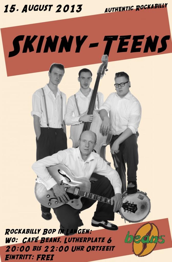 Skinny-Teens im Cafe Beans