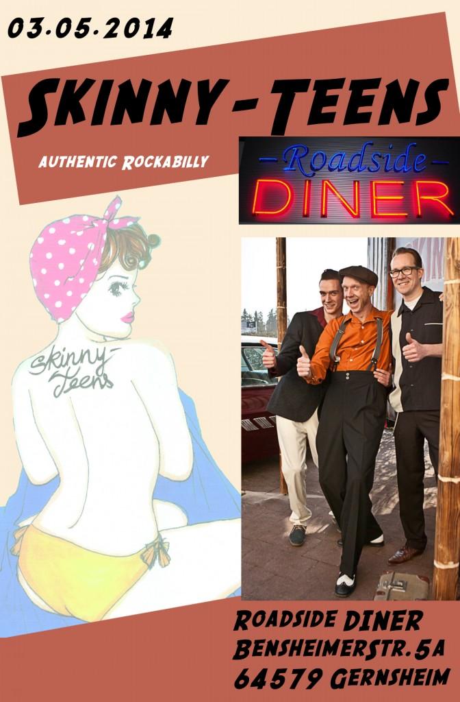 Skinny-Teens im Roadside Diner 03-05-14