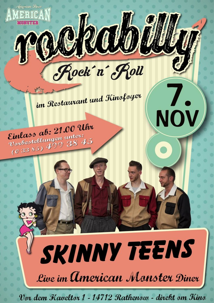 Skinny-Teens Rathenow 07.11.2015 Rockabilly live